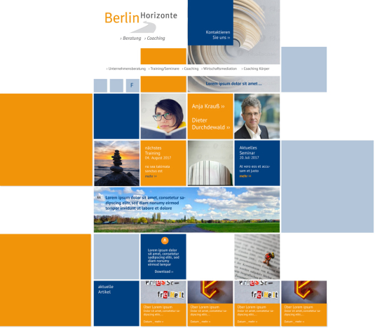 BerlinHorizonte Website Entwurf