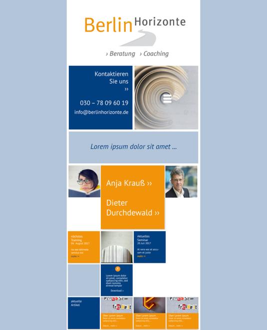 Berlinhorizonte Website Mobil